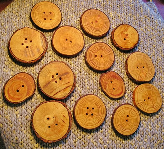 Hand cut Wood buttons