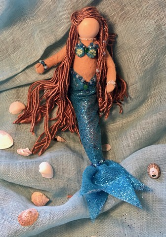 Handmade Mermaid ornament - Jewel