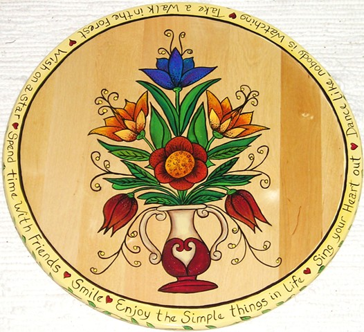 Folk Flower Lazy Susan 2