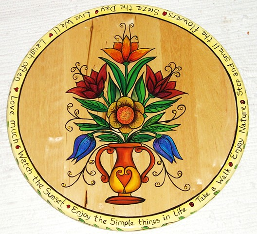 Folk Flower Lazy Susan 1