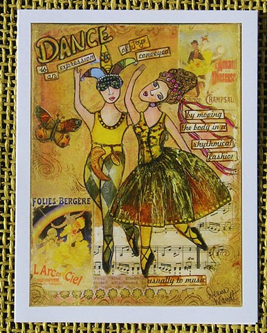 Dance is an Expression of Joy! Blank Art card