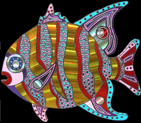 acrylic fish paintings by Carl Lopes