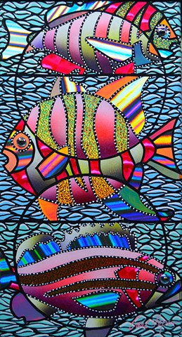 Creative Hands Gallery, Carl Lopes, acrylic paintings, fish paintings, artwork, contemporary paintings