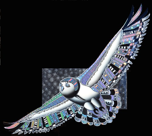 carl lopes, acrylic paintings, bird paintings, holographic papers, wildlife art