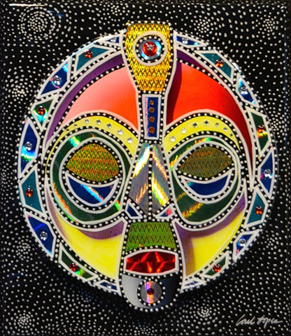 acrylics, acrylic paintings, Carl Lopes, zion union heritage museum, african mask paintings, masks, mask paintings
