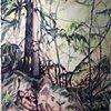 Backlit Forest in progress 1