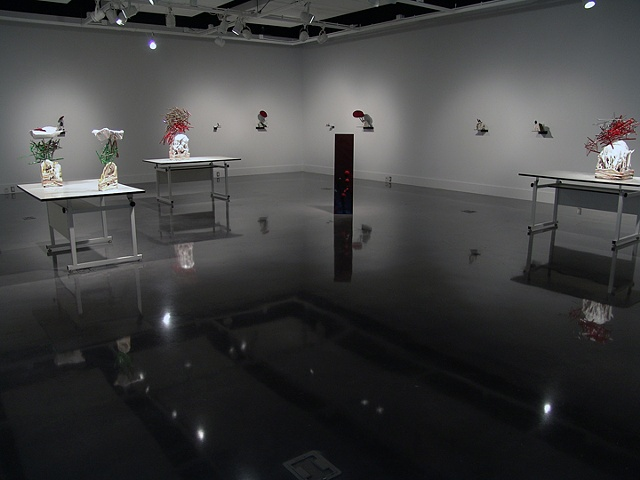 Installation view of the Dow Center for Visual Arts, Interlochen