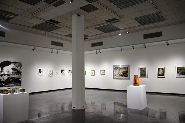 Install image of the Dirty Canteen exhibition at CalPoly. San Luis Obispo, California.