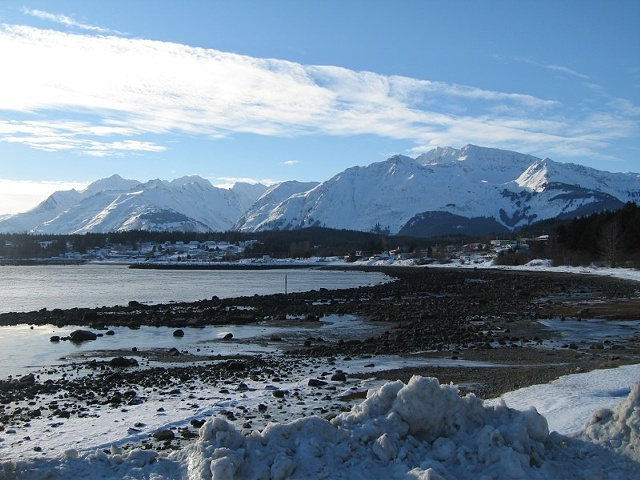 Haines, Alaska, in the snow.