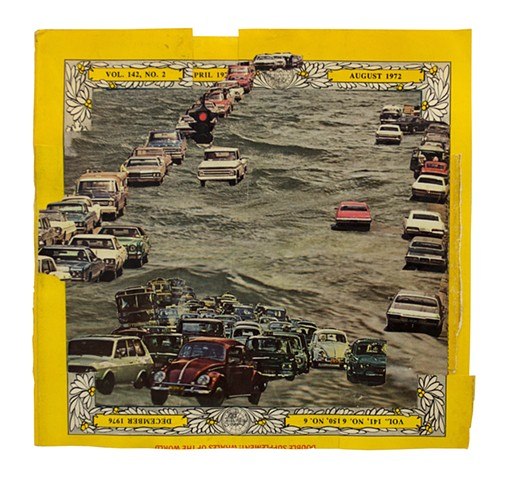 Collage of cars water ocean drive national geographic by Adam O'Neal