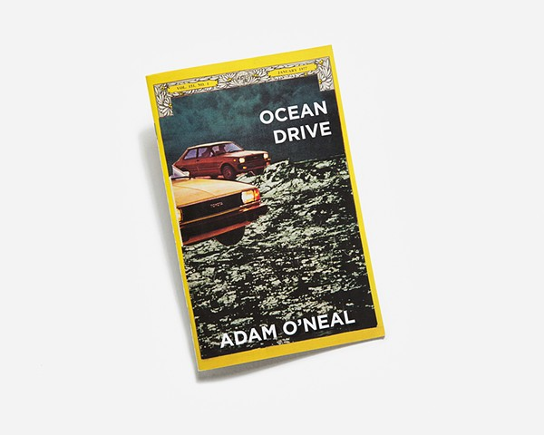 Collage zine book of cars water ocean drive national geographic by Adam O'Neal