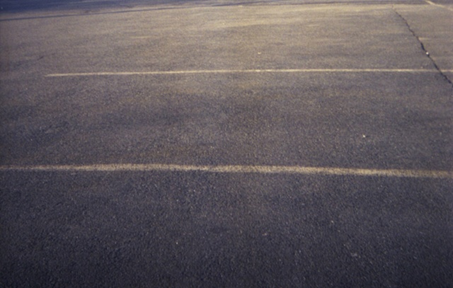 color photograph of parking lot by iris grimm