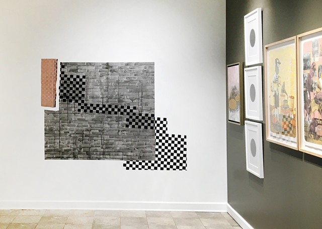 site-specific wall drawing created for DRAWING DISCOURSE, UNCA/Warren Wilson College Galleries
