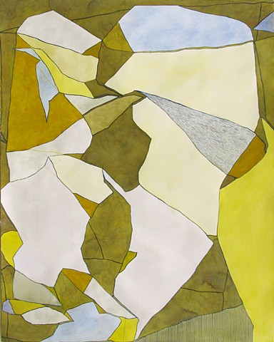 Untitled (yellow forms)