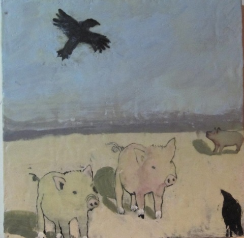 Three Pigs and Two Crows