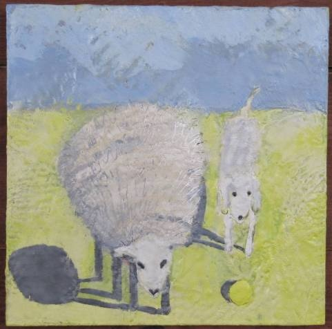 Sheep with Harpo and Yellow Ball