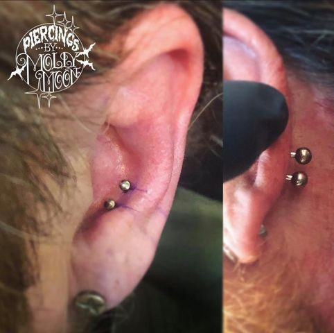 Frenum piercing double Piercing Rejection: