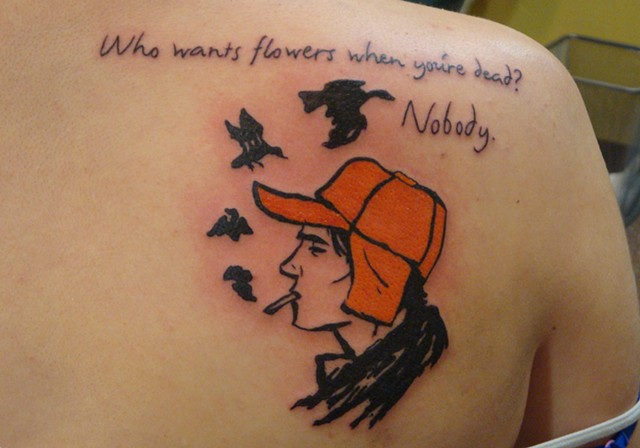 Catcher in the Rye, tattoo, tattoo shop, 920 Tattoo Company,