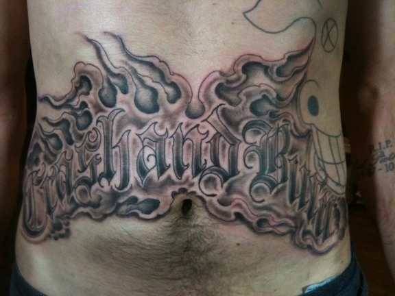 lettering, old english, tattoo, tattoo shop, tattoos by Steven Anderson, Steve Anderson, 920 tattoo company, Oshkosh, Fox Vally