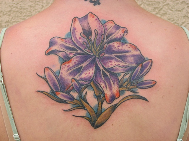 lily tattoo, color tattoo, tattoos for women, Steven Anderson, 920 tattoo company, tattoo, tattoo shop, oshkosh, fox valley, custom tattoo