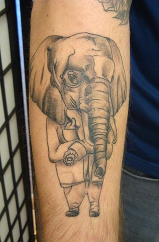 Steve Anderson, 920 Tattoo, 920 Tattoo Company, 920 Tattoo Co, 920, oshkosh, downtown oshkosh, tattoo, tattoos, brandon boyd, original artwork, elephant, elephant tattoo