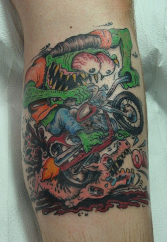 steve anderson, 920 tattoo company, oshkosh, tattoos, big daddy roth, big daddy roth tattoo,