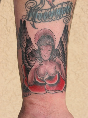 lady tattoo, 920 tattoo company, Steven Anderson, tattoo shop, tattoo, Oshkosh