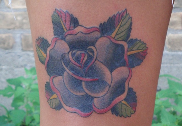 920 tattoo, steven anderson, black rose, rose tattoos, traditional tattoos, cripwell design, cripwell flash, tattoo flash, black roses, traditional tattoos, oshkosh, wisconsin, fox valley