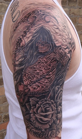 reaper tattoo, tattoo, tattoo shop, tattoo studio, tattoo palor, Steven Anderson, 920 tattoo company, black and grey tattoo, custom tattoo, Oshkosh