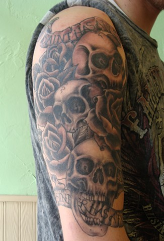 Skulls Half Sleeve view 2