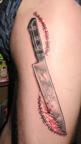 knife, tattoo, tattoo shop, tattoo studio, Steven Anderson, 920 tattoo company, Oshkosh, custom tattoo, Fox Vally