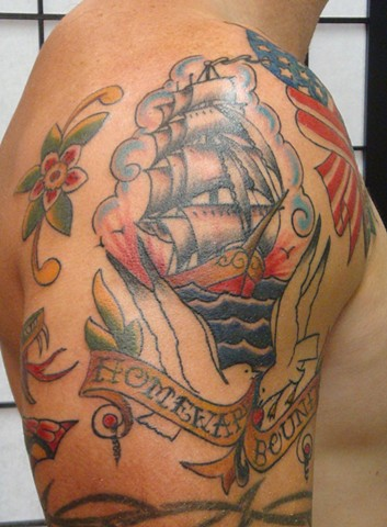 Steve Anderson, 920, 920 tattoo, 920 tattoo co, 920 tattoo company, oshkosh, oshkosh tattoo, oshkosh tattoos, downtown oshkosh, sailor jerry, sailor jeryy tattoo, sailor jerry tattoos, tattoo, tattoos, ship, ship tattoo, ship tattoos, clipper ship, clippe