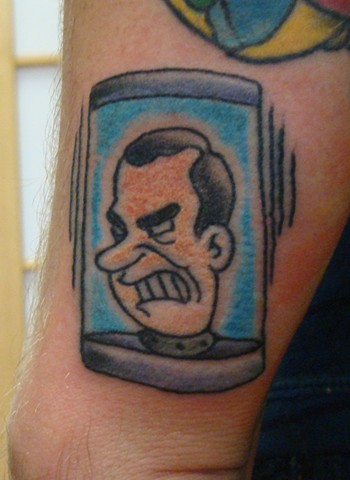 Steve Anderson, 920 tattoo company, 920 tattoo co, 920 tattoo, nixon, tattoos, nixon's head in a jar, futurama tattoo, futurama, tattoo