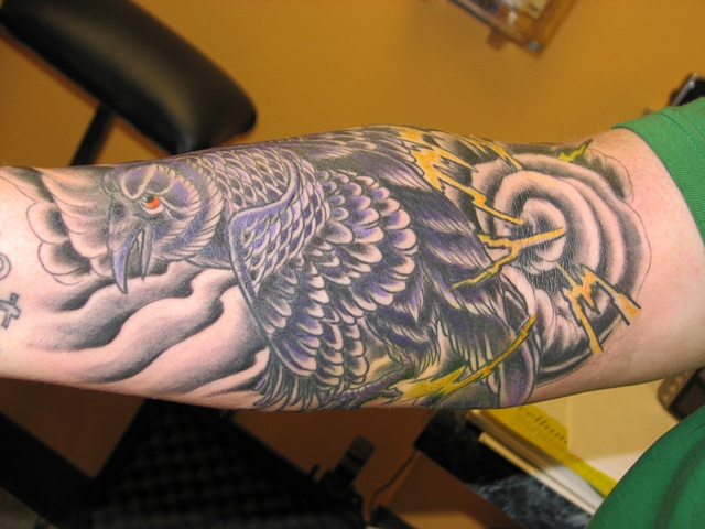 raven tattoo, StevenAnderson, tattoo, tattoo shop, tattoo Oshkosh, Oshkosh, 920 tattoo company