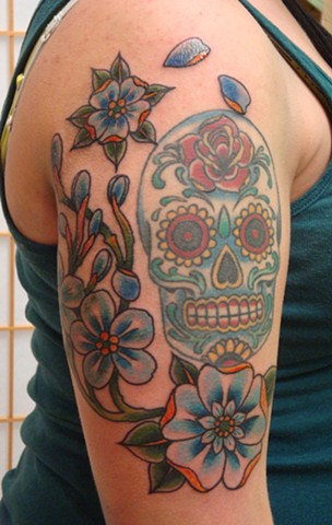 Steven Anderson, tattoo, tattoos, 920 tattoo company, wisconsin, oshkosh, tattoo shop, tattoo studio, traditional, flowers