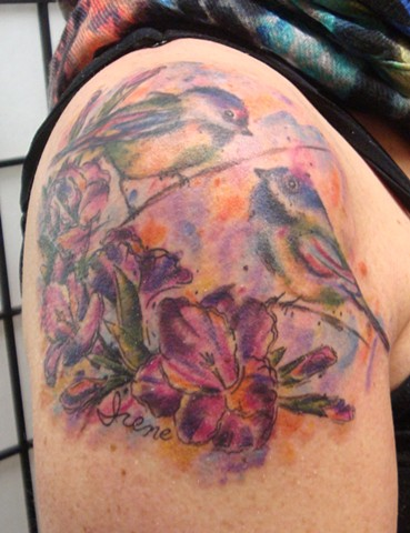 WATERCOLOR TATTOOS BY CARRIE OLSON