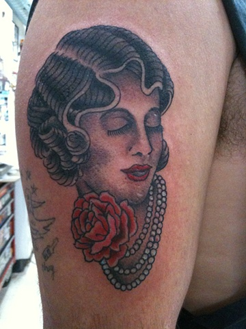 lady tattoo, 920 tattoo company, Steven Anderson, tattoo shop, tattoo, Oshkosh, Fox Valley, traditional tattoo
