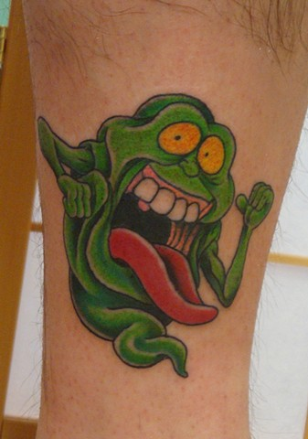 Steve Anderson, 920 tattoo company, 920 tattoo, oshkosh, oshkosh tattoo, wisconsin, slimer, ghostbusters, slimer tattoo, ghost busters tattoo, tattoo, tattoos