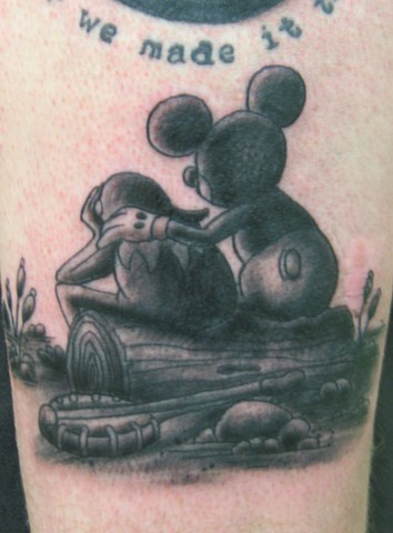 Steve Anderson, 920 tattoo, tattoos, mickey mouse, kermits, mickey mouse tattoos, kermit tattoos, cartoon tattoos, wisconsin