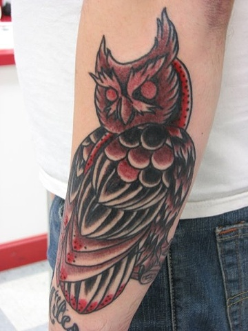 owl tattoo, tattoo, tattoo shop, Oshkosh, Steve Anderson, Fox Valley