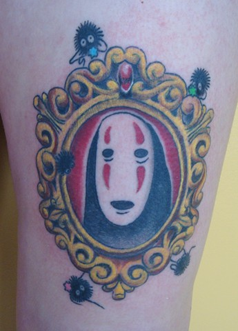 steve anderson, tattoo, tattoos, 920 tattoo company, oshkosh, wisconsin, movie tattoos, spirited away, no face
