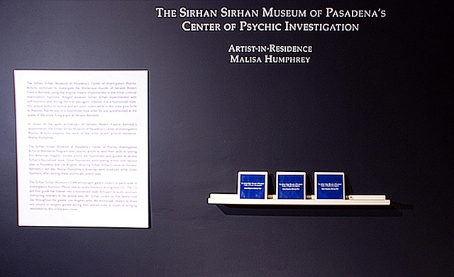 The Sirhan Sirhan Museum of Pasadena's Center of Psychic Investigation (installation entrance.)