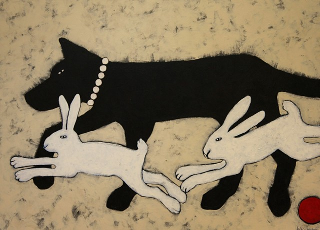 Black Dog White Rabbits