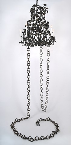 steel hand wrought chandelier candles