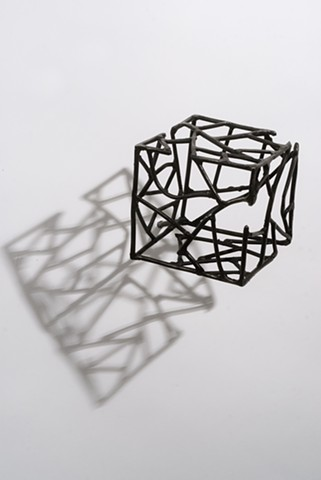 wall mounted welded steel sculpture