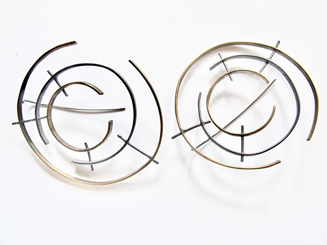 earring, di luce design, temporal, circular, Seattle made, jewelry, modern, handmade
