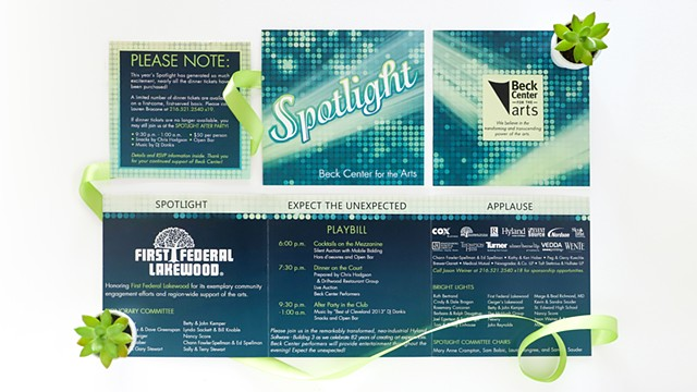 Beck Center Spotlight Gala Invitation