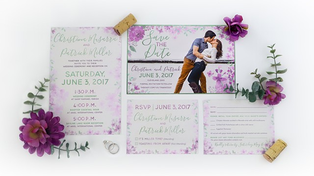 Miller Wedding Invitation and Save the Date