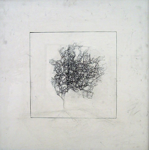"Ian Crawley Art Graphite Drawing Insignificant Series 1 ""East View"" by Ian Crawley"