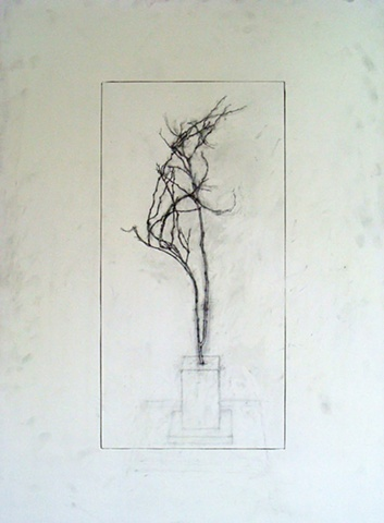 """Ian Crawley Art Graphite Drawing Insignificant Series 2 """"South View"""" by Ian Crawley"""